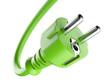 Green power plug. Eco concept