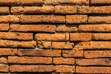 detail ancient brick wall texture background