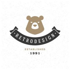 Retro Vintage Insignia or Logotype Vector design