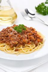 portion of spaghetti bolognese