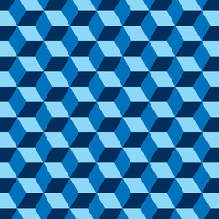 Blue cubes abstract pattern minimalistic