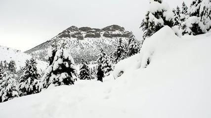 karlı dağlarda gezmek