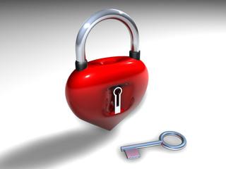 Lucchetto cuore chiuso