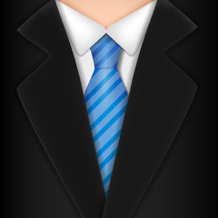 Male clothing suit. Vector Illustration,