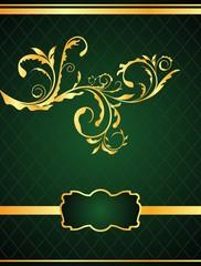 Illustration the floral background for design of packing or invi