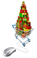 Online web Christmas shopping