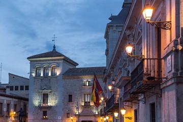 """Madrid, """"Plaza de la Villa"""" City Square"""
