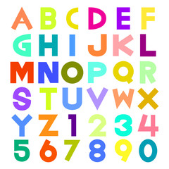 colorful alphabet illustration
