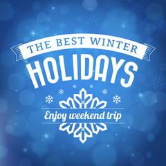 Best Winter holidays poster background