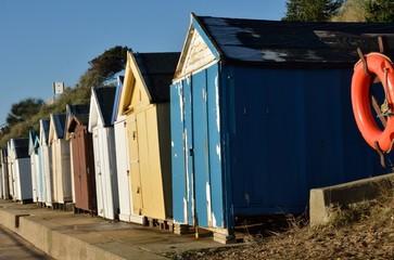 old english beach huts