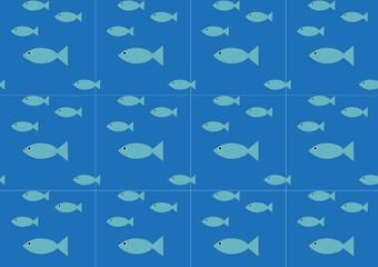 Fische nathloses Vektor-Muster
