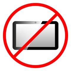Icon ban tablet computer.
