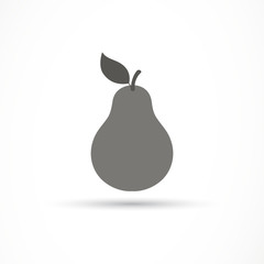 Vector Illustration of a Pear Icon