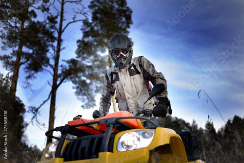 Foto op Plexiglas Motorsport ATV biker