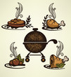 vector hand drawn bbq collection
