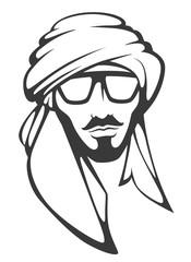 handsome arabian man in sunglasses