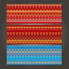 set with art ornamental pattern
