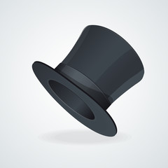 Vector Black top hat on white