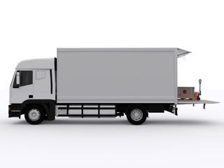 Seitenansicht Lastwagen
