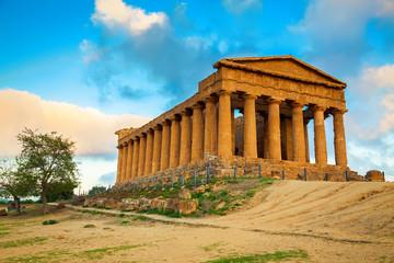 Greek ruins of Concordia Temple, Sicily