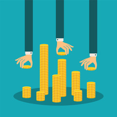 Vector financial management concept