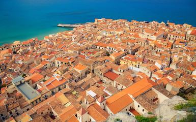 Cefalu orange roofs