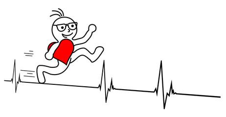 Männchen Herz Puls