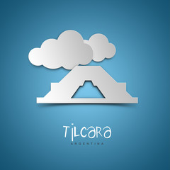 Tilcara, Argentina. Blue greeting card.