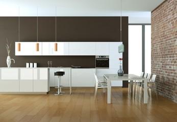 moderne Küche Interieur Design