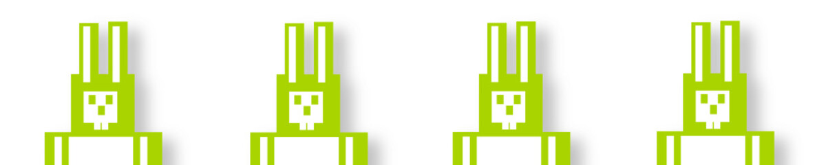 osterhasen grün reihe banner