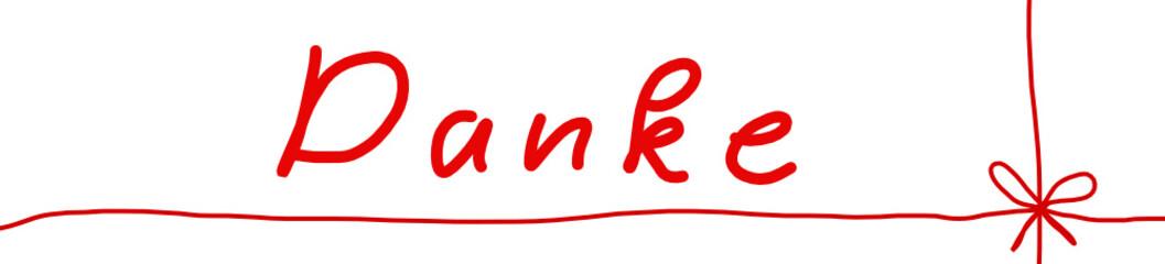 Danke Handschrift rot