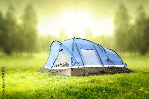 Fotobehang Kamperen tent