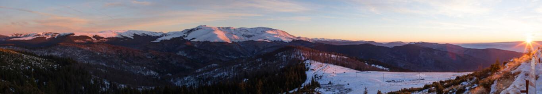 Tarcu Mountain panorama