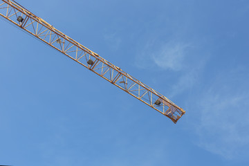 Industrial construction cranes and building