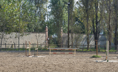 old outdoor arena for horse riding
