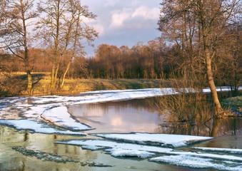 Spring. River Sukhodrev, Kaluga region, Russia