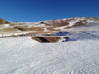 panorama dal monta avaro snow