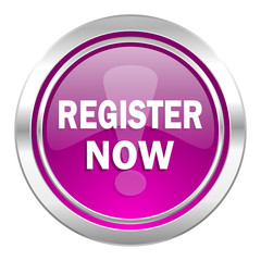 register now violet icon