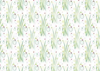 florales Muster Vektor nahtlos