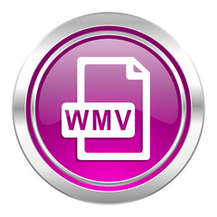 wmv file violet icon