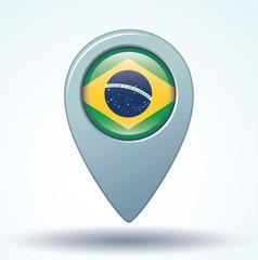 Flag set of brazil, vector illustration