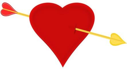 Golden Arrow Valentine Hart