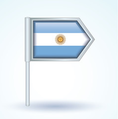 Flag set of argentina, vector illustration