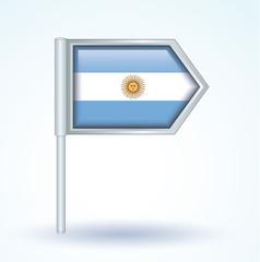 Flag set of argentina, vector illustration