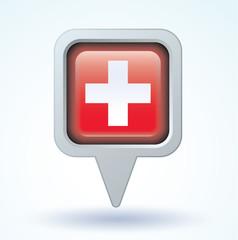 Flag set of switzerland, vector illustration