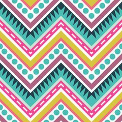 Zigzag Geometric Seamless Pattern