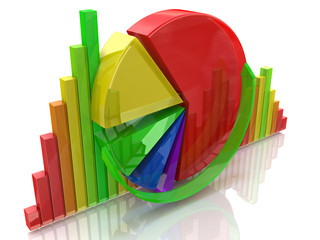 business colorful charts