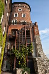 Sandomierska Tower at Wawel Castle in Krakow