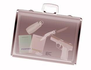 Sicherheitskontrolle, Röngenscanner einer Reisetasche