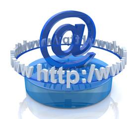 Internet scene - e-mail concept